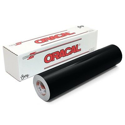 "ORACAL 651 Glossy Vinyl Roll 24"" x 30 ft on 3 Inch Core, Black"
