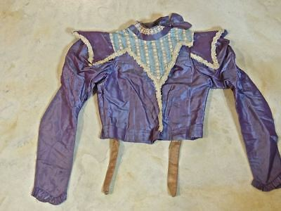 Authentic Antique Victorian Bodice Blouse Top with Stays Highly DETAILED Nice!
