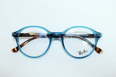 f3c9b10f17 New Ray-Ban Rb 7118 8022 Clear Blue Authentic Eyeglasses Frames Rb7118 Rx  50-