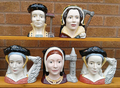 Royal Doulton - Henry Viii And His Six Wives - Selection Of Character Jugs.