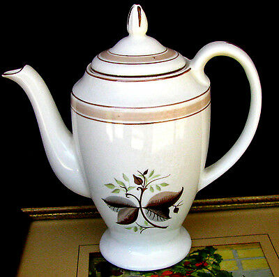 Bristol Pountney Tea Pot With Lid, Mid Century Modern English Pottery Coffee Pot