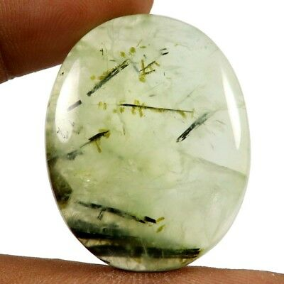 66.55ct 100% Natural Top Quality Prehnite Gemstone Oval Untreated Loose Cabochon