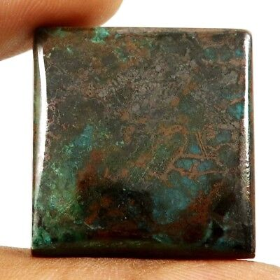 67.50 cts Natural Designer Iron Azurite Untreated Gemstone Square Loose Cabochon