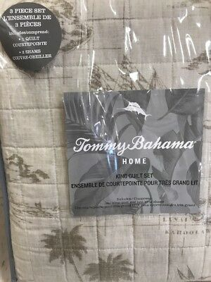 Tommy bahama vintage map beige king quilt cover shams 3 pc set nwt tommy bahama vintage map ink quilt king set hawaii brown tan beige 2 shams gumiabroncs Image collections