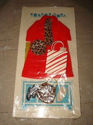 New 1963 Remco Judy Littlechap Red Chesterfield Coat #1103 Hat Vtg Doll Outfit