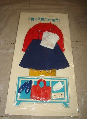 New 1963 Remco Judy Littlechap 3 Piece Suit #1102 Vtg Doll Outfit Pumps Gloves