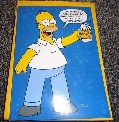 The Simpsons Homer Simpson Beer Birthday Card Brand New 199