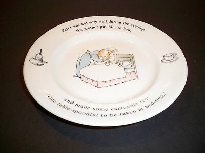 Childs Plate The World Of Peter Rabbit Wedgewood England 7''