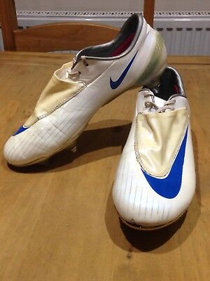 dcc2da66d Nike Mercurial Vapor IV White Blue Football Boots Size UK 6 With Original  Bag