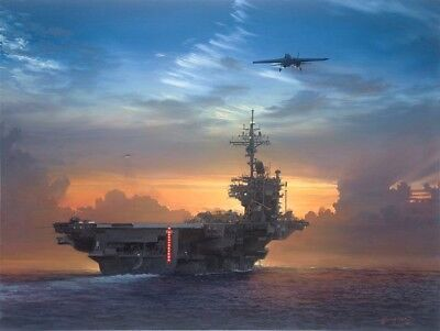 Sunset Recovery [F-14 Tomcat] PRINT William S Phillips US Navy Aircraft Carrier