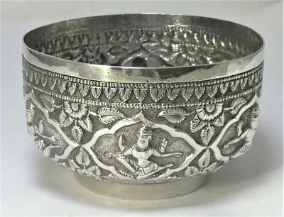 Vintage Asian 800 Silver Decorative Silver Pot  (56g)–Possibly Indian or Burmese