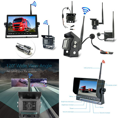 Wireless Backup Camera For Truck 170° Wide Angle Car Rear View Digital RV Traile