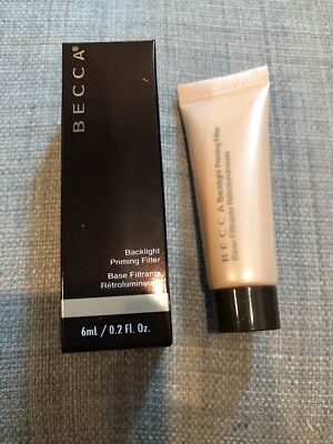 New BECCA Backlight Priming Filter Face Foundation Primer Base 6ml 0.2oz SEALED