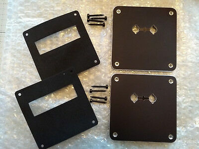 WBT 0530.06 BLACK - Pair of WBT Terminal Mounting Plates inc. gaskets, screws.