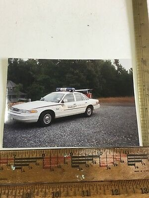 Calvert County Md Sheriff Patrol Car 1990's Color Photo