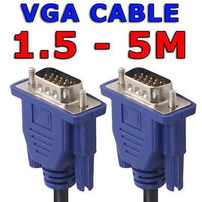 1.5M 3M 5M VGA SVGA 15pin Male to Male Extension PC Monitor LCD HD Screen Cable