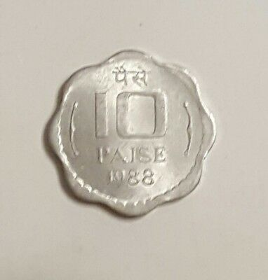 India 1988 10 Paise Coin