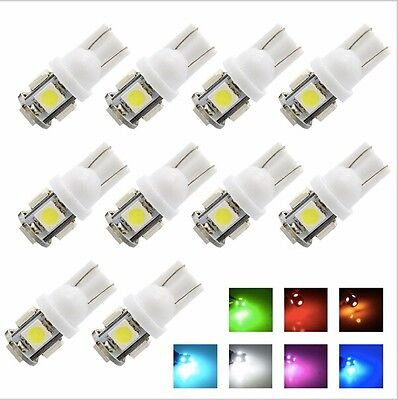 50 PCS Cool White T10 Wedge 5050 5SMD Car Dome Map Glove Box Interior LED Lights