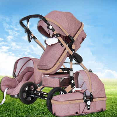 Portable Travel Baby Stroller Pram 3in1 foldable Pushchair bassinet & Car Seat