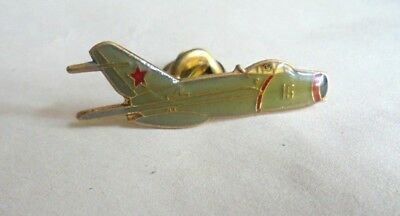 Cool Vintage Russian Red Star Military 15 Green Aircraft Lapel Pin PInback
