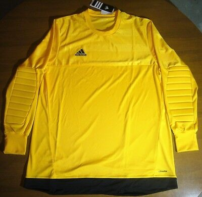 a8e3f5f97cd NWT Adidas Entry 15 Goalkeeper Jersey Men's XL Gold/Black Climalite S29444