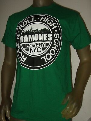 RAMONES ROCK N ROLL HIGH SCHOOL BLACK T-SHIRT NEW OFFICIAL ADULT BOWERY NYC