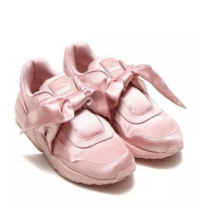 "reputable site 7d704 2aacd PUMA X RIHANNA Fenty Bow Sneakers ""Silver Pink"" (Size 9) 365054-01"