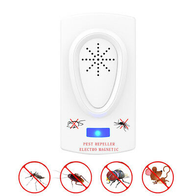 Cockroach Mouse Repeller Pest Electronic Ultrasonic Mosquito Killer Bug Reject