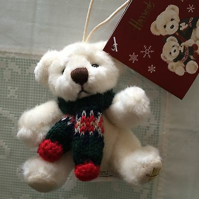 HARRODS Christmas 2006 Alexander Bear Ornament New Plush Tree Decoration Limited