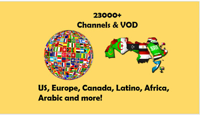 INFINITY IPTV SUBSCRIPTION+23000 CHANNELS &VOD Best Choice UNLIMITED