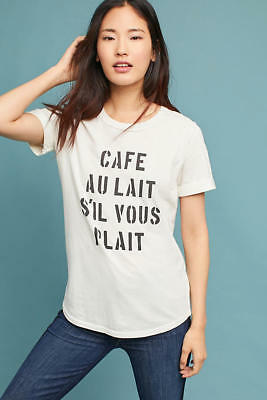 a23b81b9d $78 NEW ANTHROPOLOGIE Sol Angeles Cafe Au Lait Cuffed Sleeve Tee, sz ...