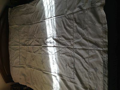 Beautiful Vintage Handmade Linen Tablecloth