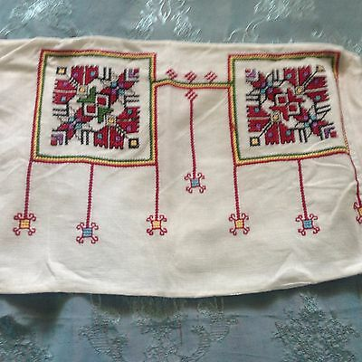 Beautiful Vintage Hand-Embroidered Pillowcase