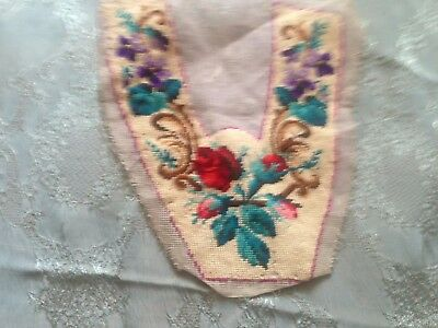 Beautiful Vintage Hand-Embroidered Motif