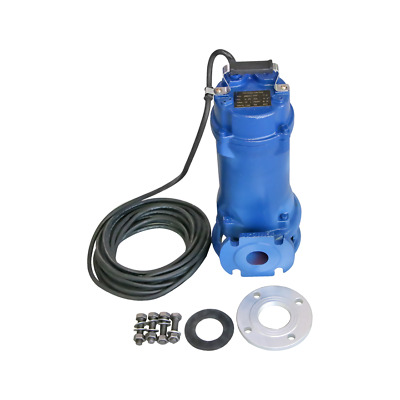 Industrial Sewage Cutter Grinder Sump Pump 52 GPM 110V 1.5 HP Submersible