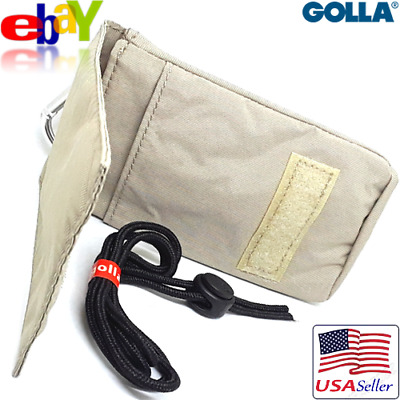 Golla Case Bag w/ Belt Loop, Neck Strap f/ Cellphones Cameras MP3 iPod PDA Beige