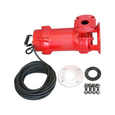 Industrial Sewage Cutter Grinder Sump Pump 52 GPM 110V 1.5 HP Submersible Red