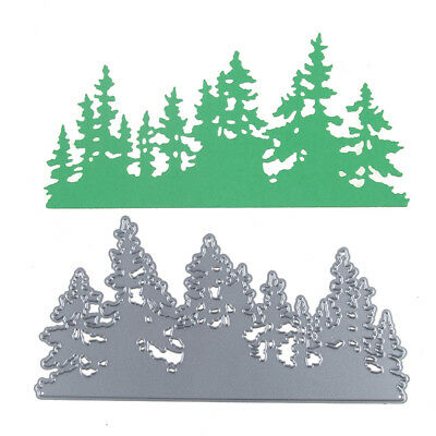 Dense Christmas Forest-Tree Cutting Dies For Scrapbooking Card Craft Decor FB