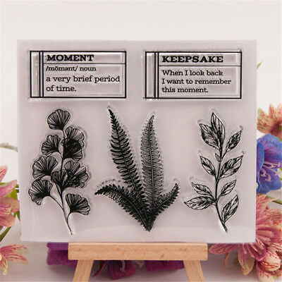 Leaf Rubber Clear Stamp Cling Seal Scrapbooking Diary Card DIY Decor Craft FB