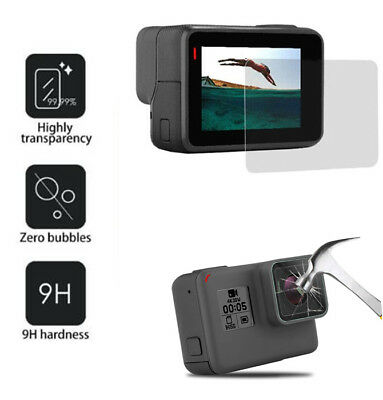 9H Real Tempered Glass Film Screen Protector / Lens Protect For Gopro Hero 6/5