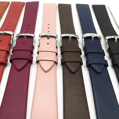 Genuine Leather Vintage Watch Strap Band Deployment Buckle Waterproof 12mm-22mm