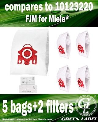 For Miele S290-S299 FJM 3D Efficiency bags for Compact Vacuums 10123220 (5+2)