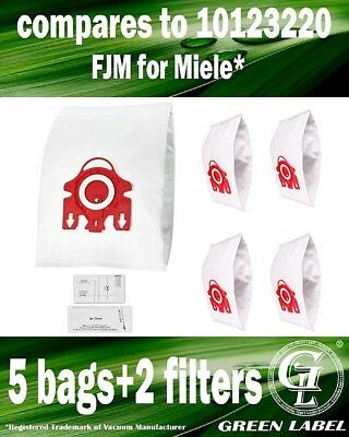 For Miele S290-S299 FJM Dustbags for Compact Vacuum Cleaners (5 bags, 2 filters)