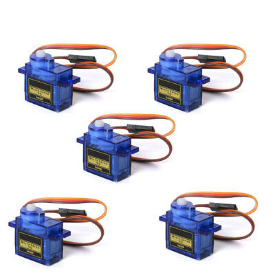5Pcs 180° 9G SG90 Mini Gear Micro Servo Motor für Robot Helicopter Airplane RC
