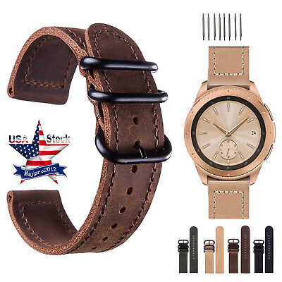 18 20 22 24mm Vintage Genuine Leather Watch Bands Wrist Strap For Fossil Q Band