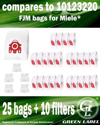 For Miele Compact C1 FJM Filter Bags For Canister Vacuums(25 bags, 10 filters)