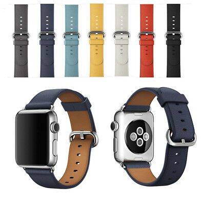 Leather Watch Strap Bracelet Wrist Band For Apple Watch Series 1/2/3 38/42mm