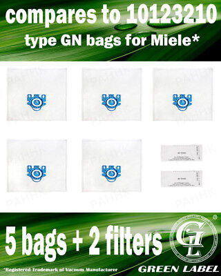 For Miele S2000-S2999 GN LARGE Filter Bags For Canister Vacuums(5 bags,2filters)