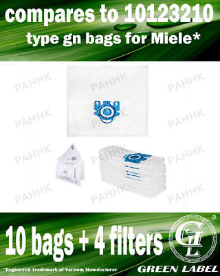 For Miele S800-S858 GN LARGE Filter Bags For Canister Vacuums(10 bags,4filters)