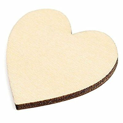 3X(50 pieces empty wood heart decorations for DIY crafts, main decoration 6 S3R4